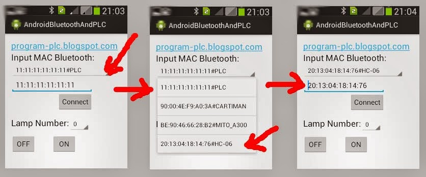 Select or Input MAC Bluetooth of HC-06