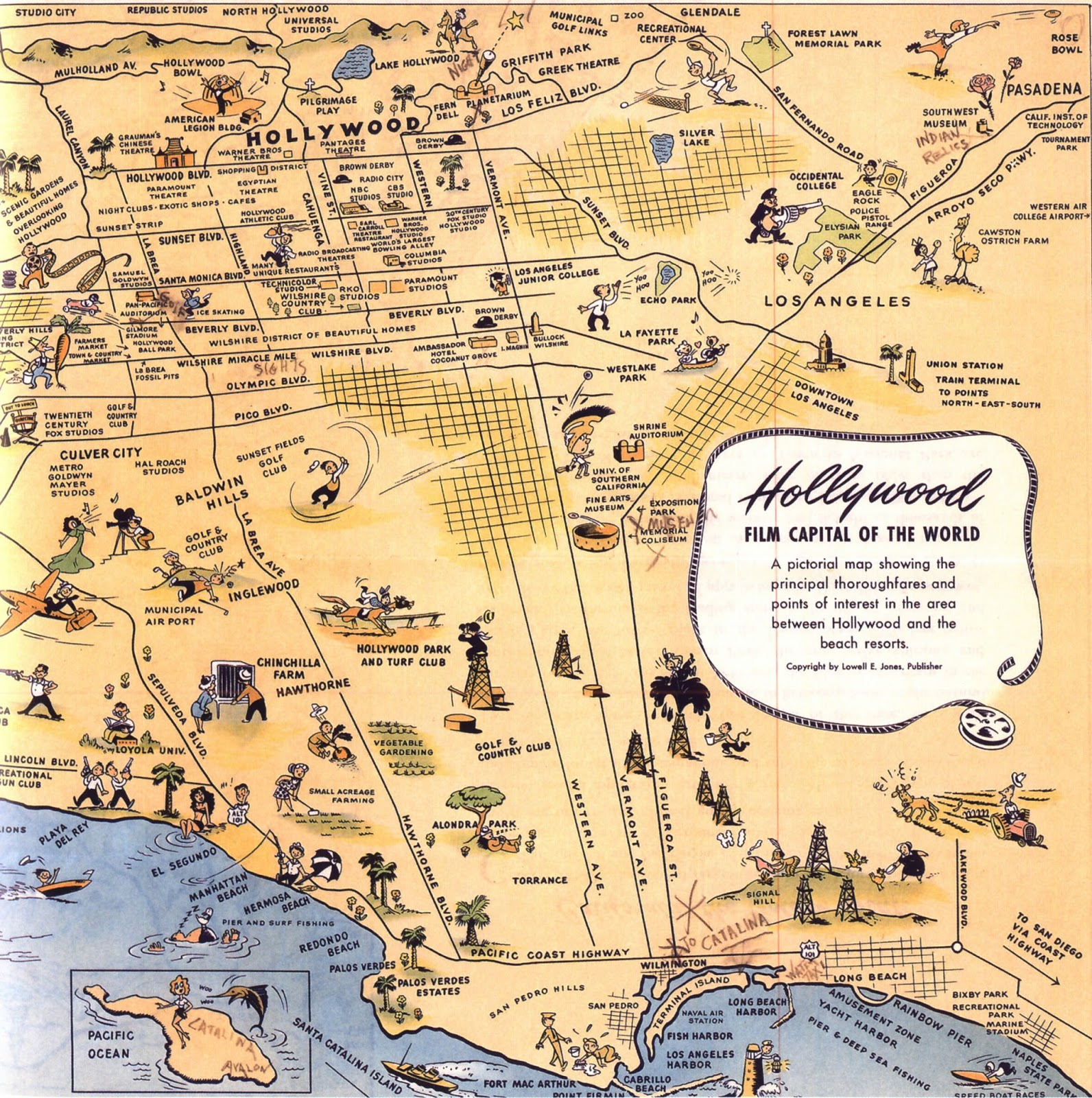 maps of los angeles available from ball state university libraries