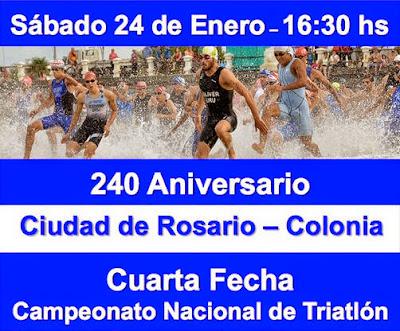 Triatlón Ciudad de Rosario (Colonia, 24/ene/2015): cambió hora