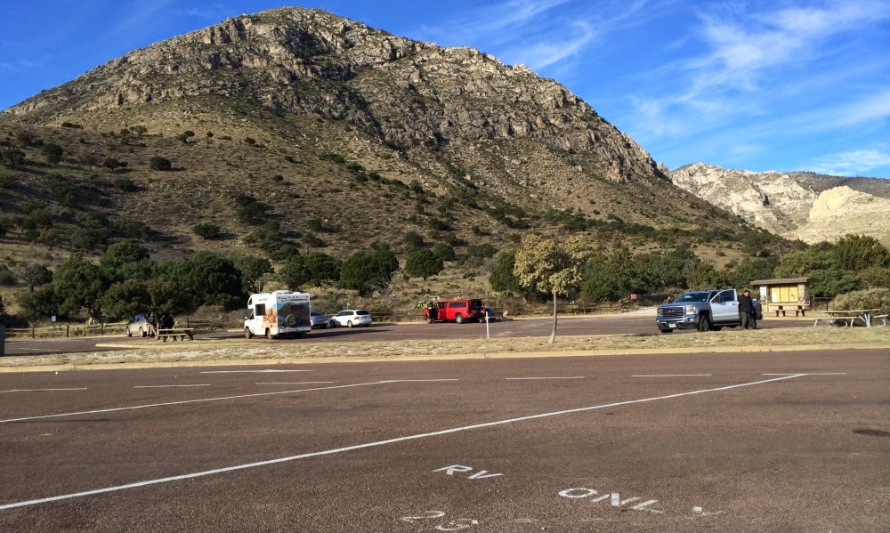 Camping i Guadalupe Mountains National Park Texas