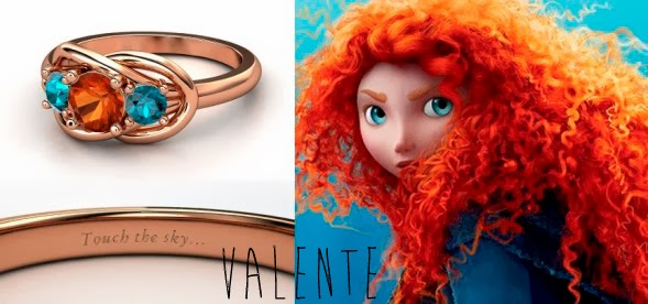 blog Mamãe de Salto aliança inspirada nas princesas da Disney Valente