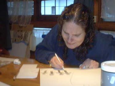 Brenda pintando