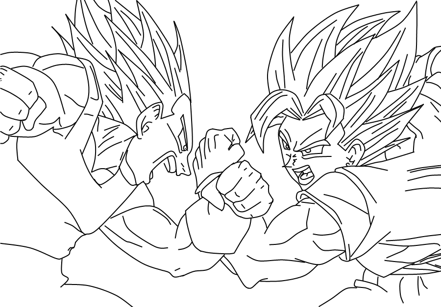 Dragon Ball Pintar. Goku Ssj. Kai Para Colorear Para Dragon Ball Z ...
