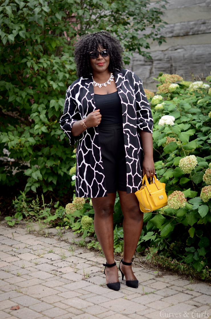 An easy way to transition between summer and fall. Giraffe print , 424 fifth #mycurvesandcurls,