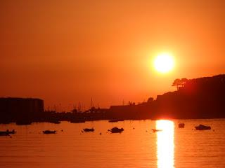 Sunset in Baiona