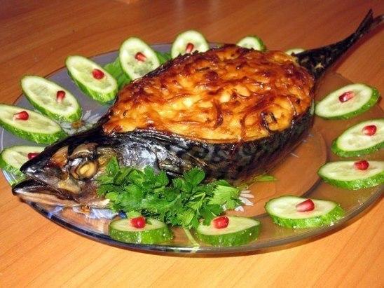 Рецепт с фото пошагово скумбрия запеченная в фольге