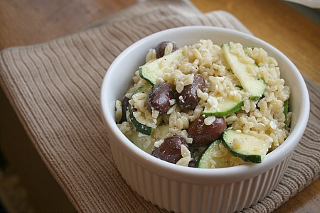 Orzo Salad with Zucchini, Feta & Olives | I Was Born To Cook