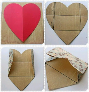 cara membuat amplop sederhana dari kertas berbentuk hati