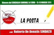Elezioni comunali del 15 e 16 maggio 2011 a Sora. Vota e scrivi La Posta sulla scheda