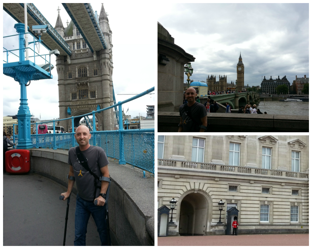 Collage of London sites during vacation