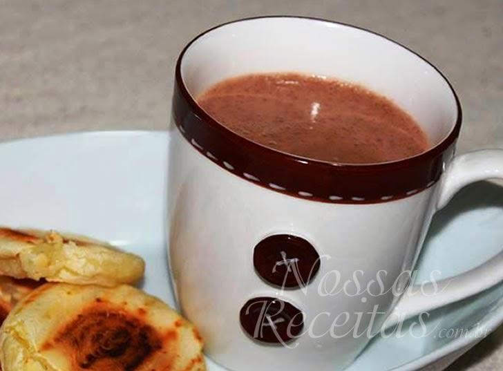Receita de Chocolate quente com canela