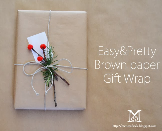 easy pretty brown paper gift wrap beauty fashion style