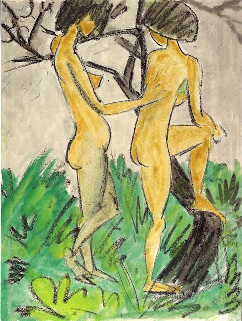 Otto Mueller, Zwei Akte im Freien, 1918-1923, Albertina, Vienne