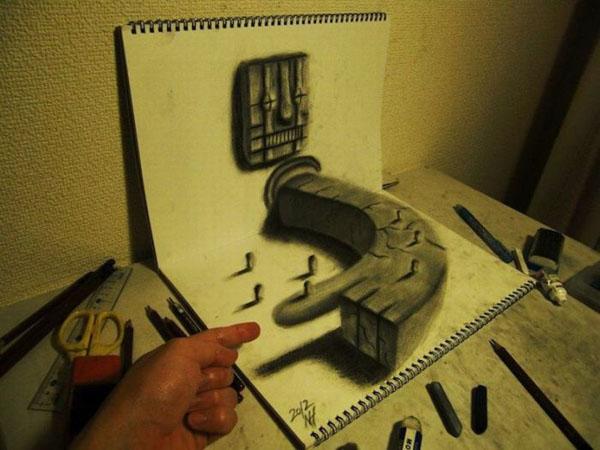 Dibujando en vivo - Página 2 Dibujos-3d-nagai-hideyuki-14