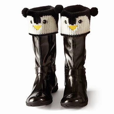 Penguin boot toppers