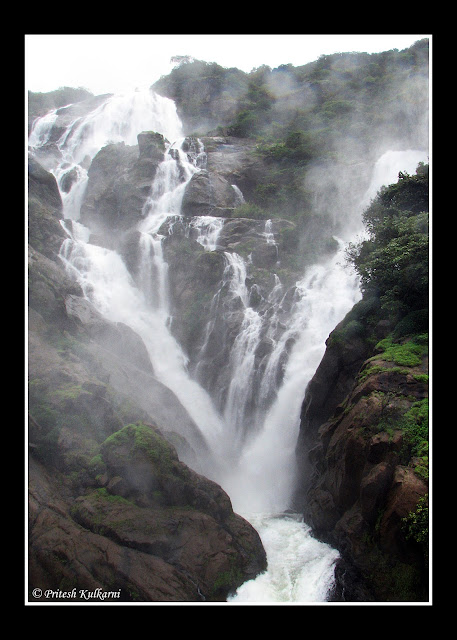 Dudhsagar Waterfall: Close up View