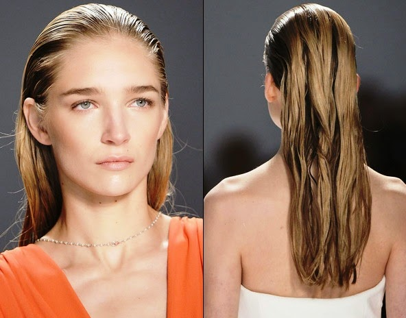 Wet look Hairstyle