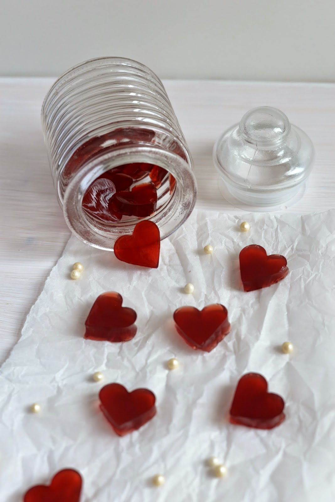 jelly, jelly-hearts, jelly-Herzen, Herz, herzen, hearts, valentinstag, valentine's day, valentine, sweets, naschen, süßigkeit, gummibärli, geschenk, present, überraschung, gift, geschenke aus der küche, blog, xenobiophilia, lifestyleblog