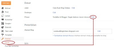 settings,blogger setting,blogger privasi,privacy blogger,other,Listed on Blogger,Visible to search engines
