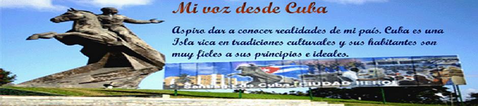 Mi voz desde Cuba