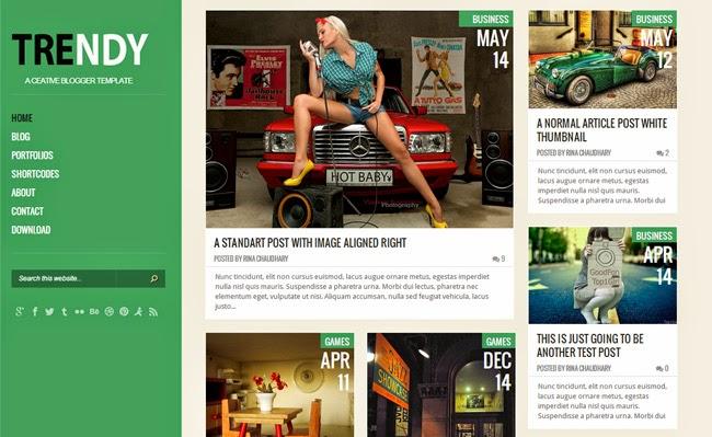 Trendy Green Responsive