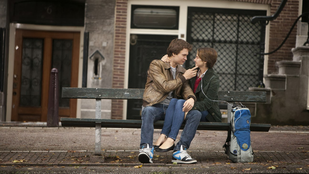 The Fault in Our Stars Movie Still, Hazel and Augustus, Shailene Woodley and Ansel Elgort