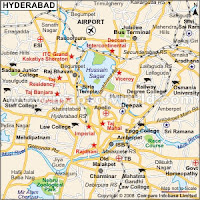 Hyderabad Tourism Map