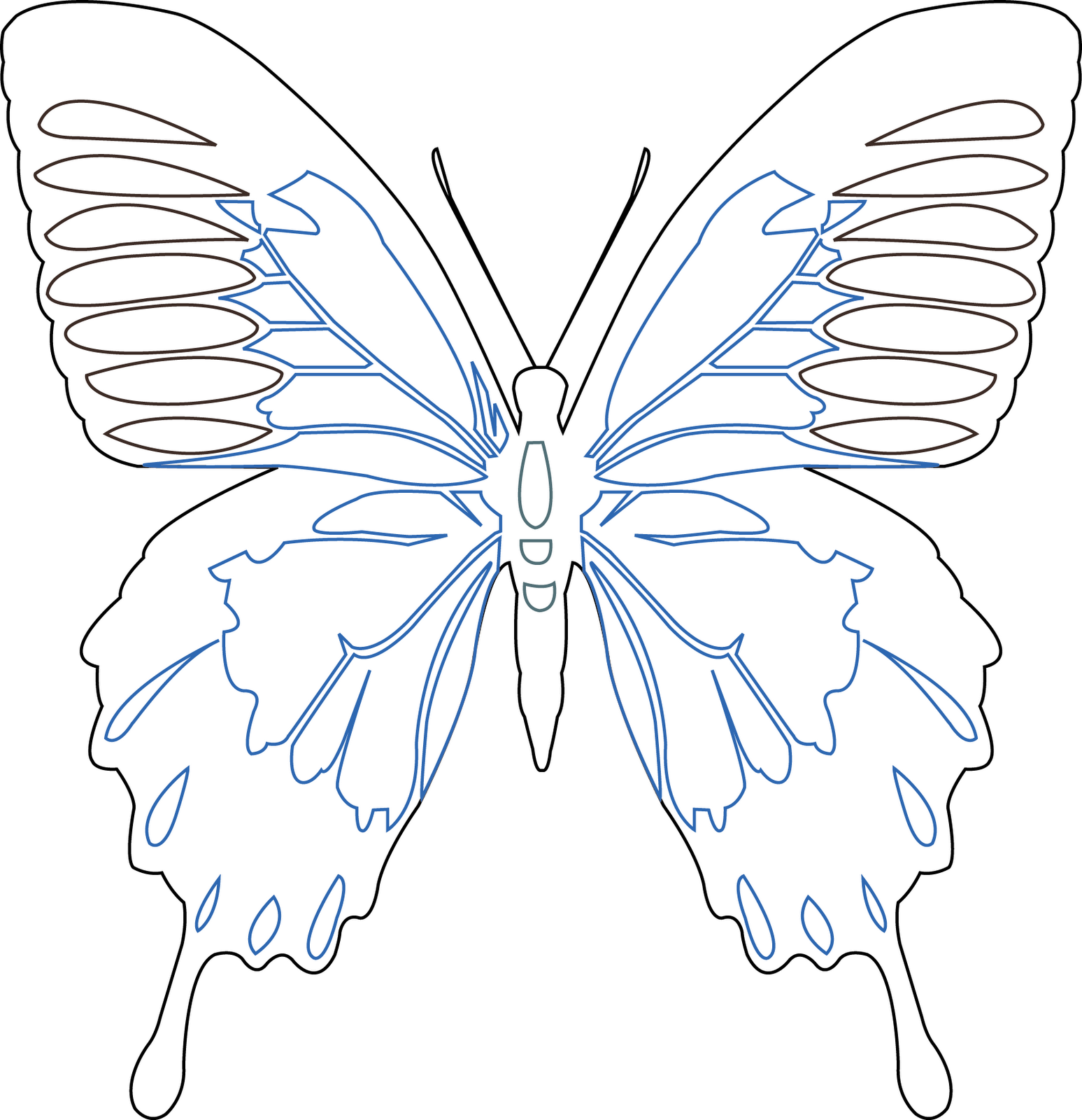 Eiloren organza butterfly using a soldering iron on for Butterfly template free