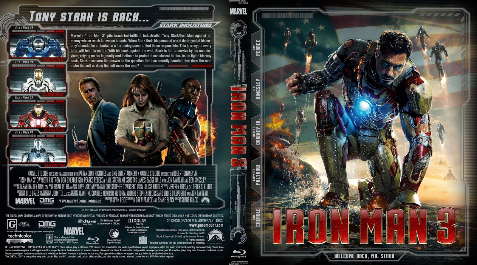 cover blu ray iron man 3 capa scan. Black Bedroom Furniture Sets. Home Design Ideas