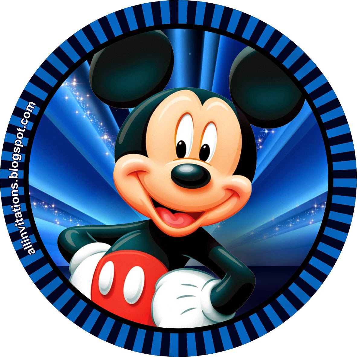 Kit imprimible mickey mouse all invitations for Imagenes de piletas redondas