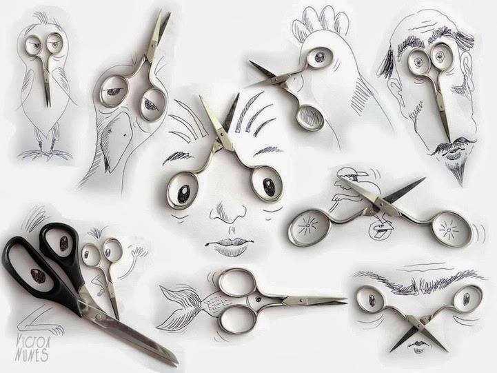 الابداع بلا حدود-لوحات فنية نصها مرسوم ونصها حقيقي Design-fetish-Victor-Nunes-objects-illustrations-into-faces-1