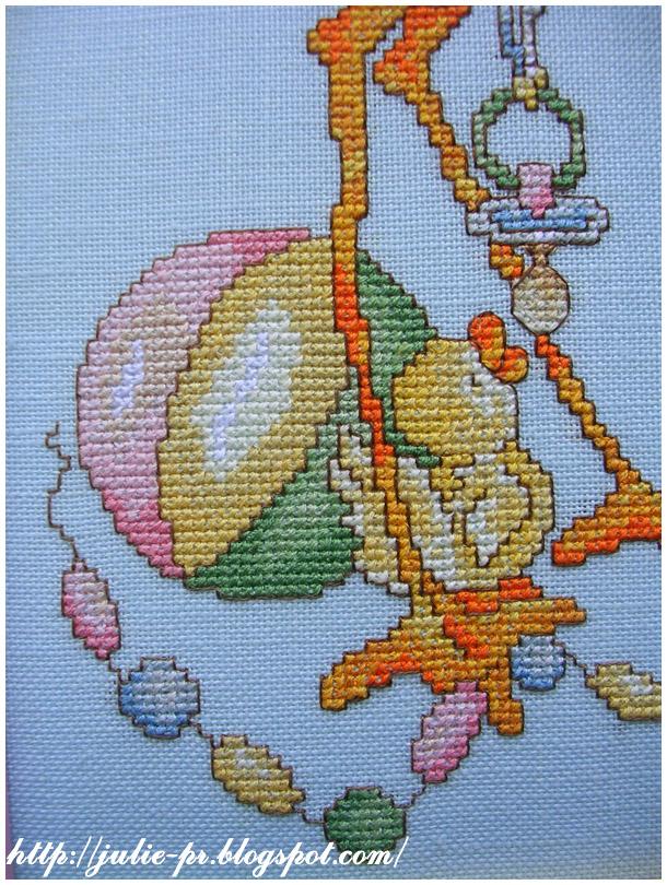 SC124 Bundle of Joy вышивка cross stitch метрика для мальчика аист