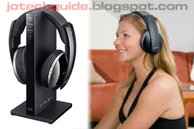 Girl listening to music. Sony MDR-DS6500