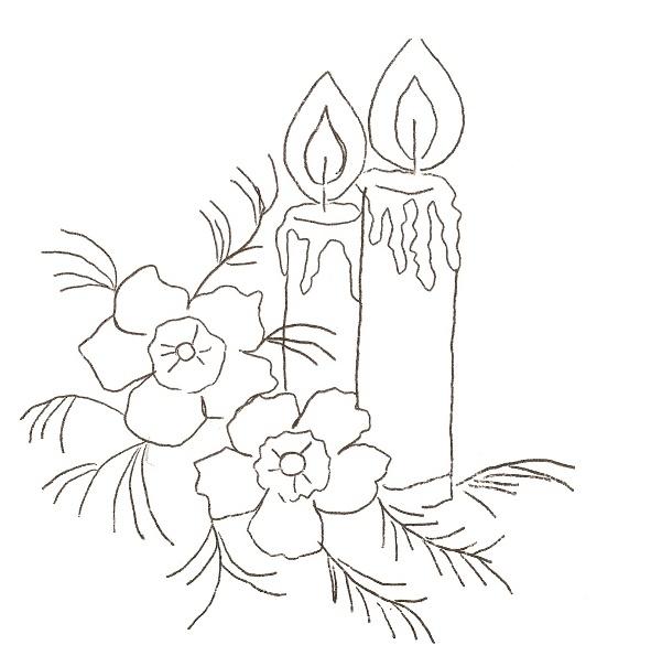 imagens para colorir de velas de natal