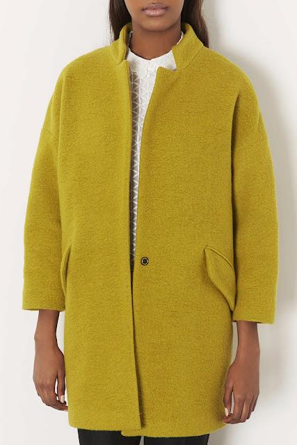 topshop mustard coat