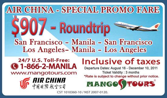 Mango Tours Promo