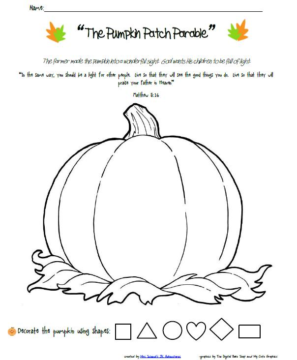 Smart image within pumpkin patch parable printable