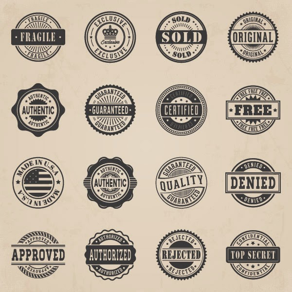 business vector badges: Free web designing resources