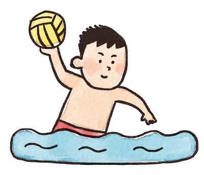 水球選手のイラスト