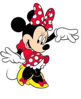 Minnie Mouse, bodkované šatky