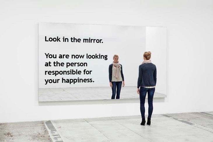 look in the mirror When you look in a mirror, what do you see a nose that gleans the fragrance of  morning dewa mouth that kisses your newborn babyears that behold the.