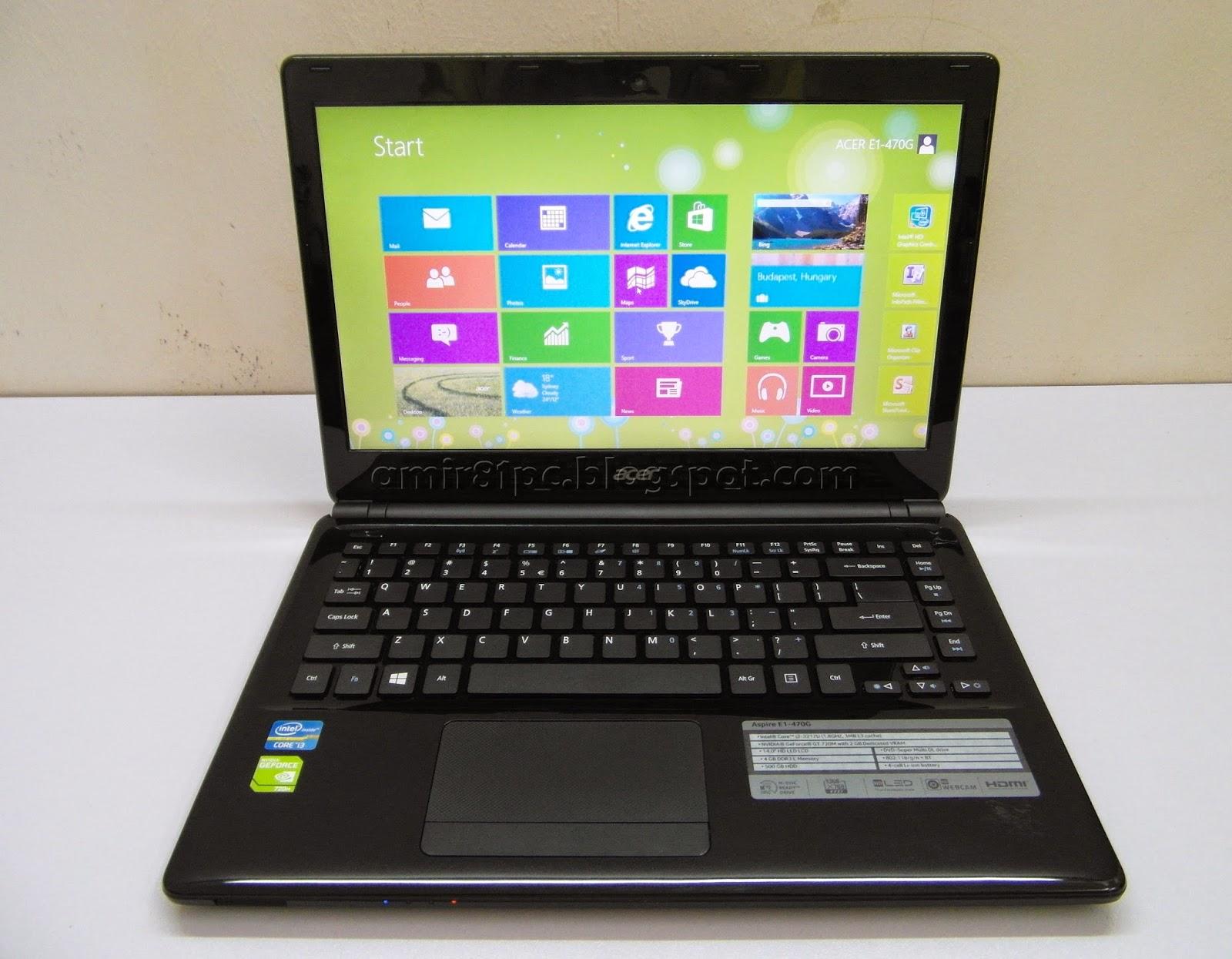 Used Laptop Acer Aspire E E1 470G 3rd Gen Core I3 2GB Nvidia GT720M Warranty Till DEC 2014 RM 1185
