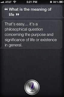Siri: What is the meaning of life?