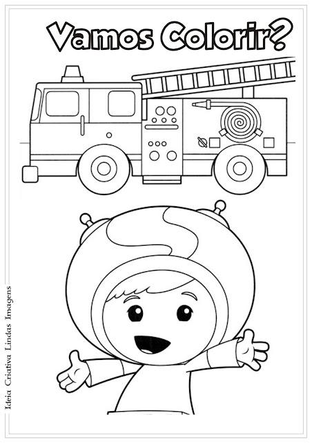 Desenho para Colorir Umizoomi