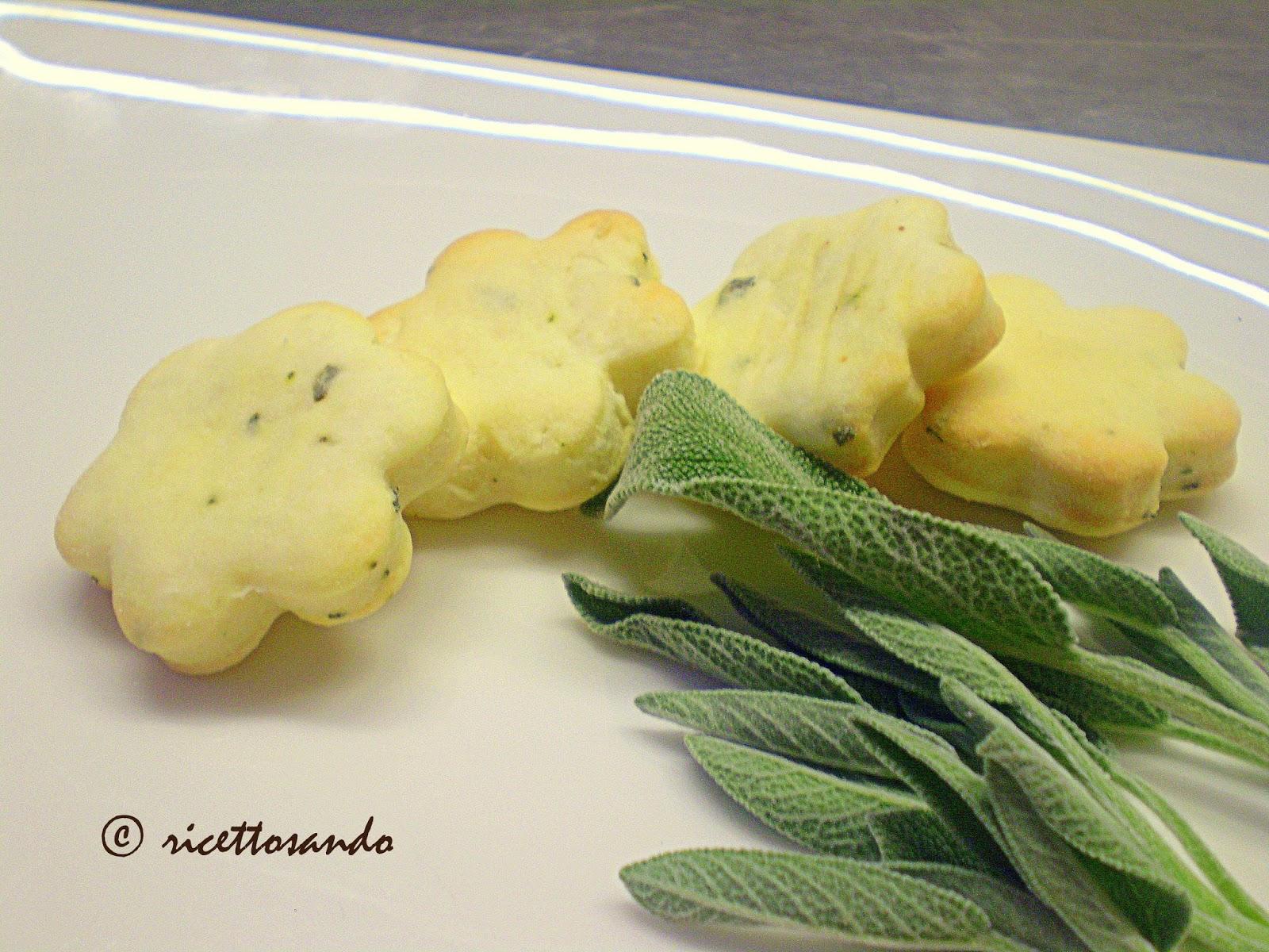 Biscotti alla salvia salati  ricetta tradizionale