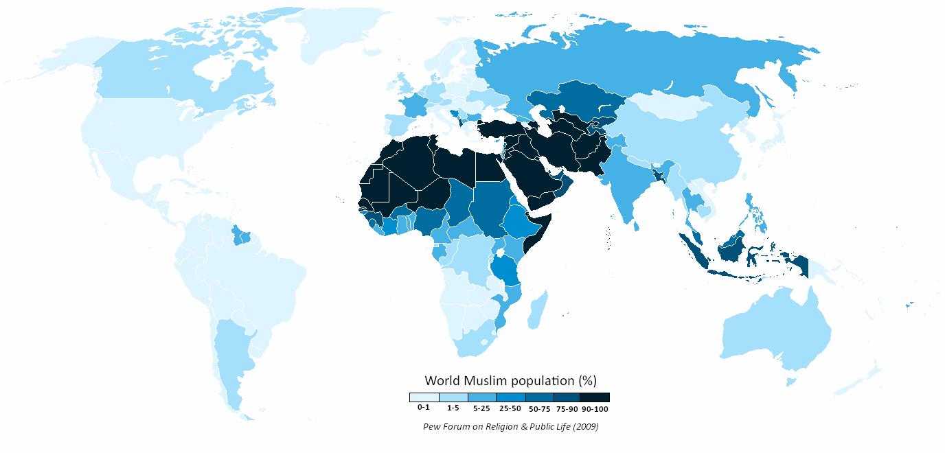 MAPfrappe: The Muslim World