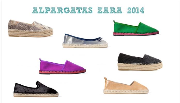 Como no podía ser de otra forma, Zara también incluye en su nueva temporada zapatillas de esparto, mas asequibles que las marcas anteriores.