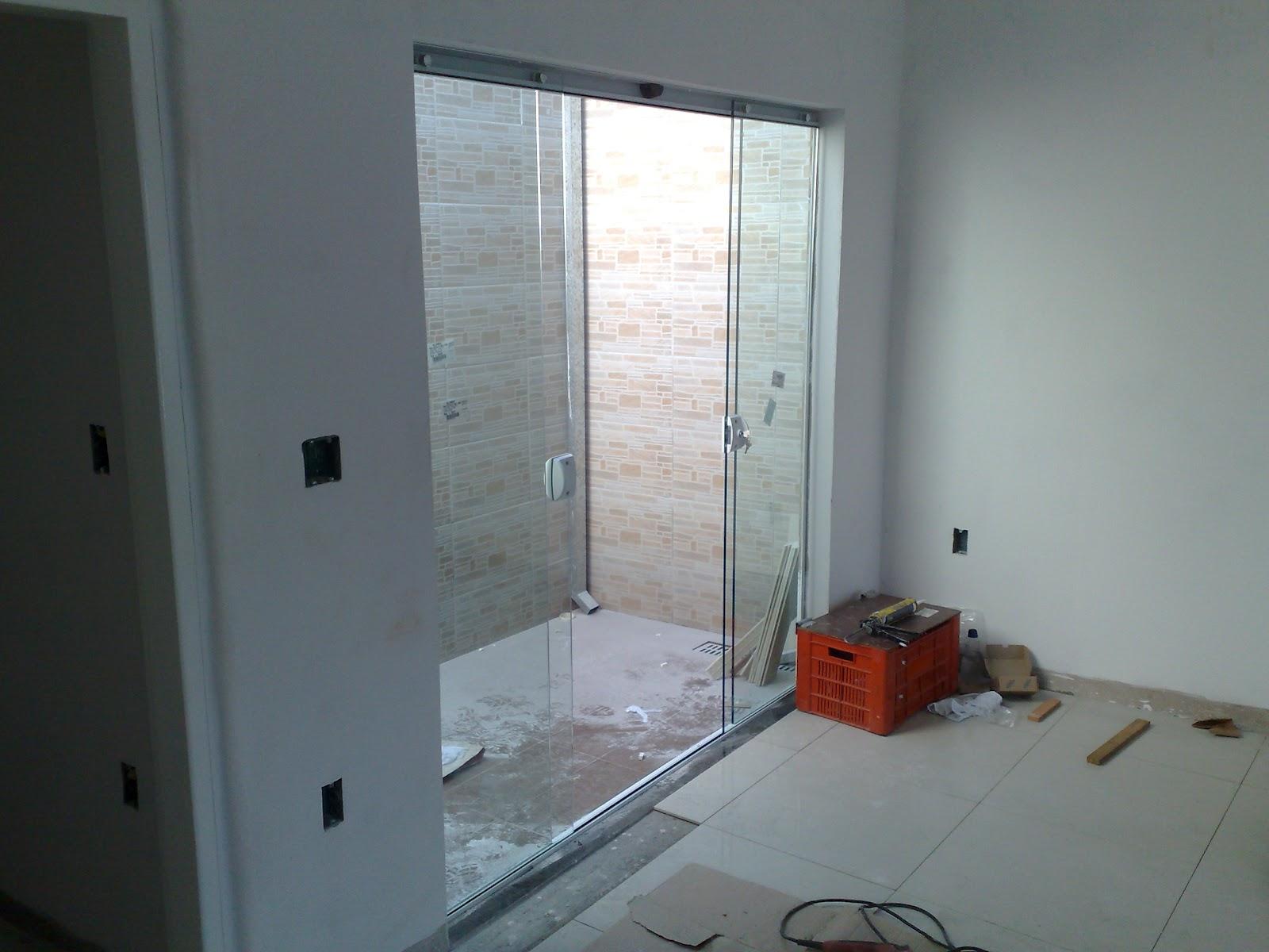 da minha primeira casa: Vidros Blindex instalados e Porcelanato #732C1D 1600 1200
