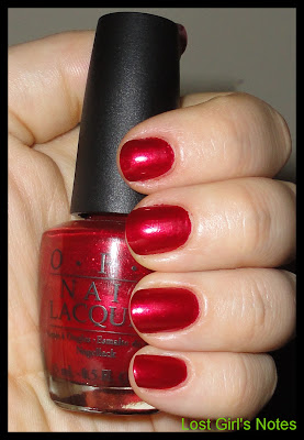 OPi affair in red square swatches and review