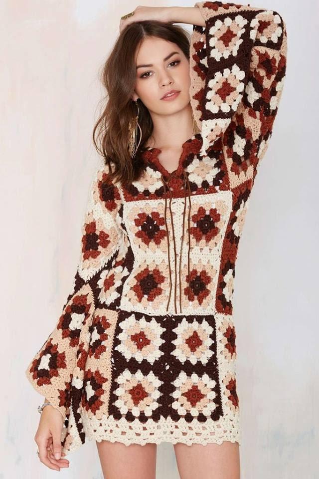 Edna confec es em croch vestidos de square com gr fico for Sou abbigliamento